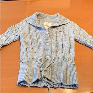 Hollister grey 3/4 sleeve sweater